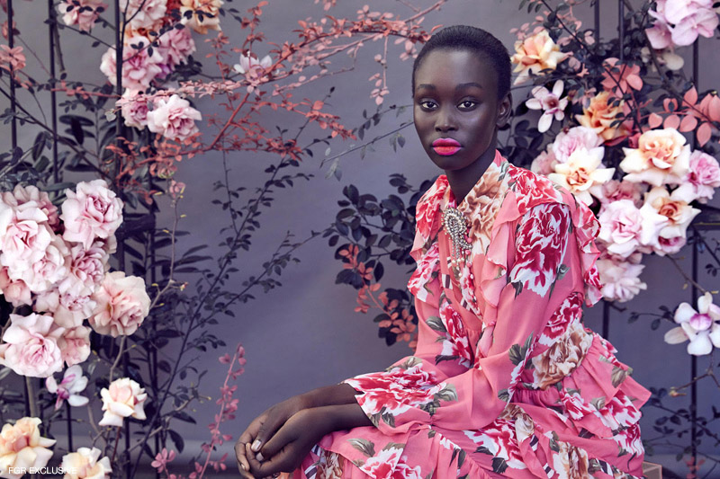 Brooch Etro from Christine and Dress stylist's own. Photo: Sam Bisso