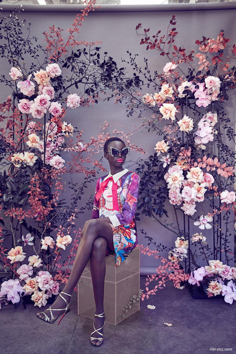 Dress Gucci, Shoes Christian Louboutin and Sunglasses stylist's own. Photo: Sam Bisso