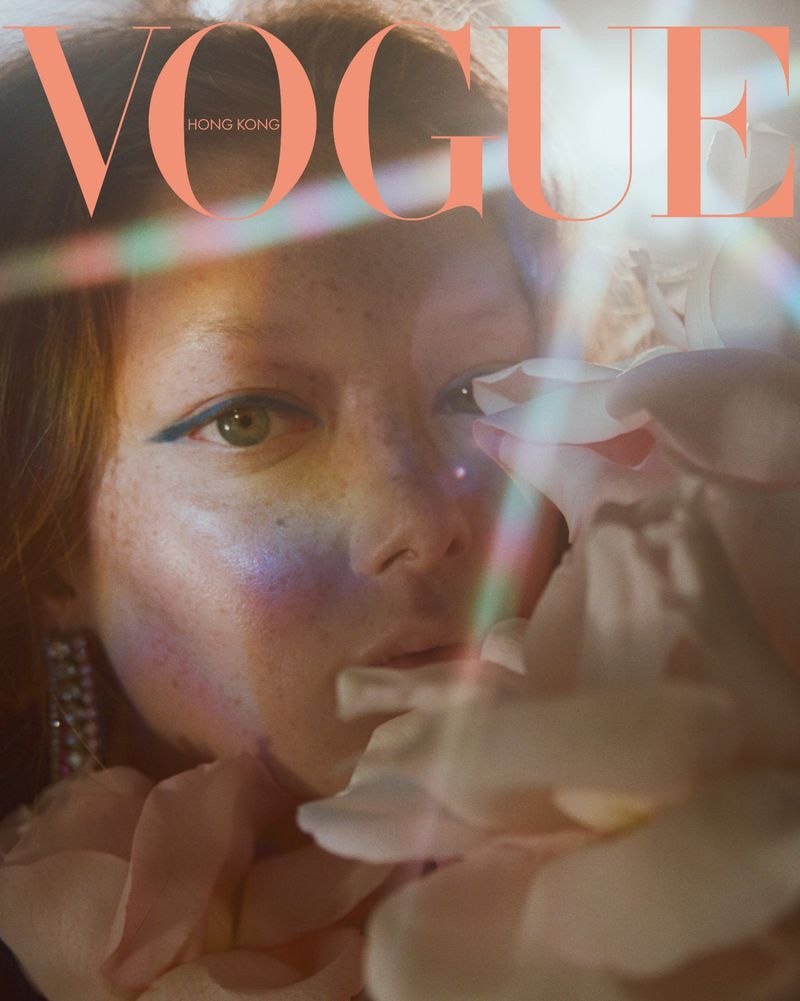 Sara Grace Wallerstedt Mesmerizes for the Pages of Vogue Hong Kong