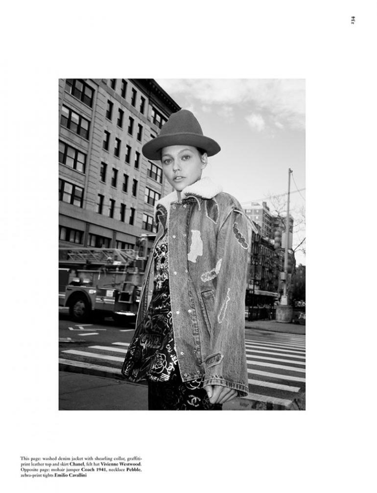 Sasha Pivovarova Models Eclectic Styles for Dazed Magazine