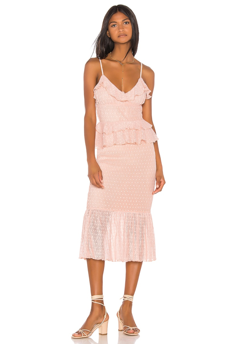 Song of Style Lucia Midi Dress $238
