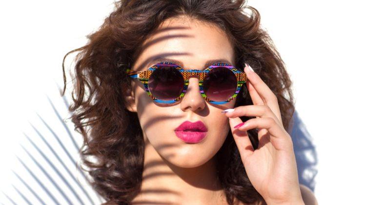 Summer Beauty Makeup Sunglasses Pink Lipstick