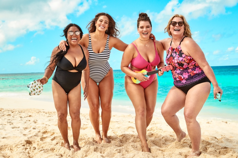 Sherrie Shepard, Ashley Graham, Tara Lynn and Emme star in Swimsuits For All summer 2019 campaign