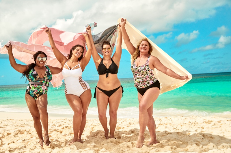 Sherrie Shepard, Ashley Graham, Tara Lynn and Emme front Swimsuits For All summer 2019 campaign