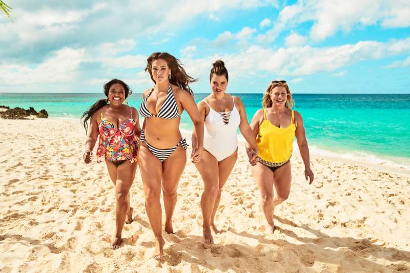 Ashley Graham rocks a striped bikini in Swimsuits For All summer 2019 campaign