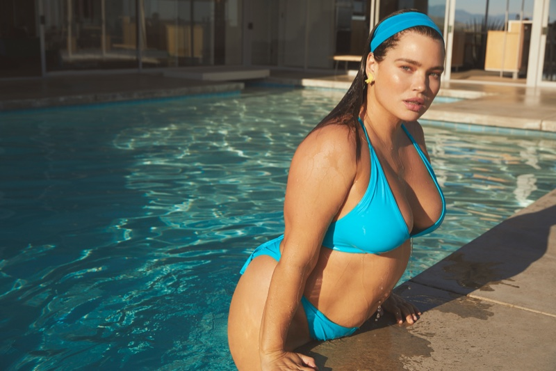 Tara Lynn stars in Nasty Gal Curve Swimwear campaign