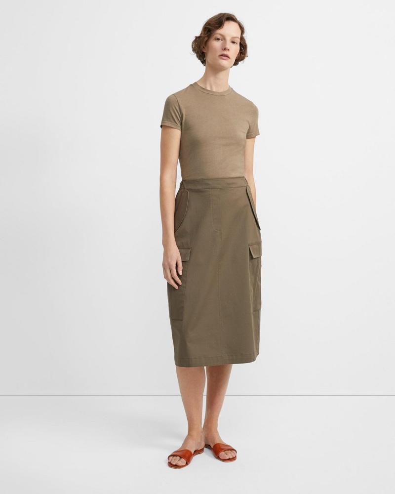 Theory Stretch Chino Cargo Skirt $295