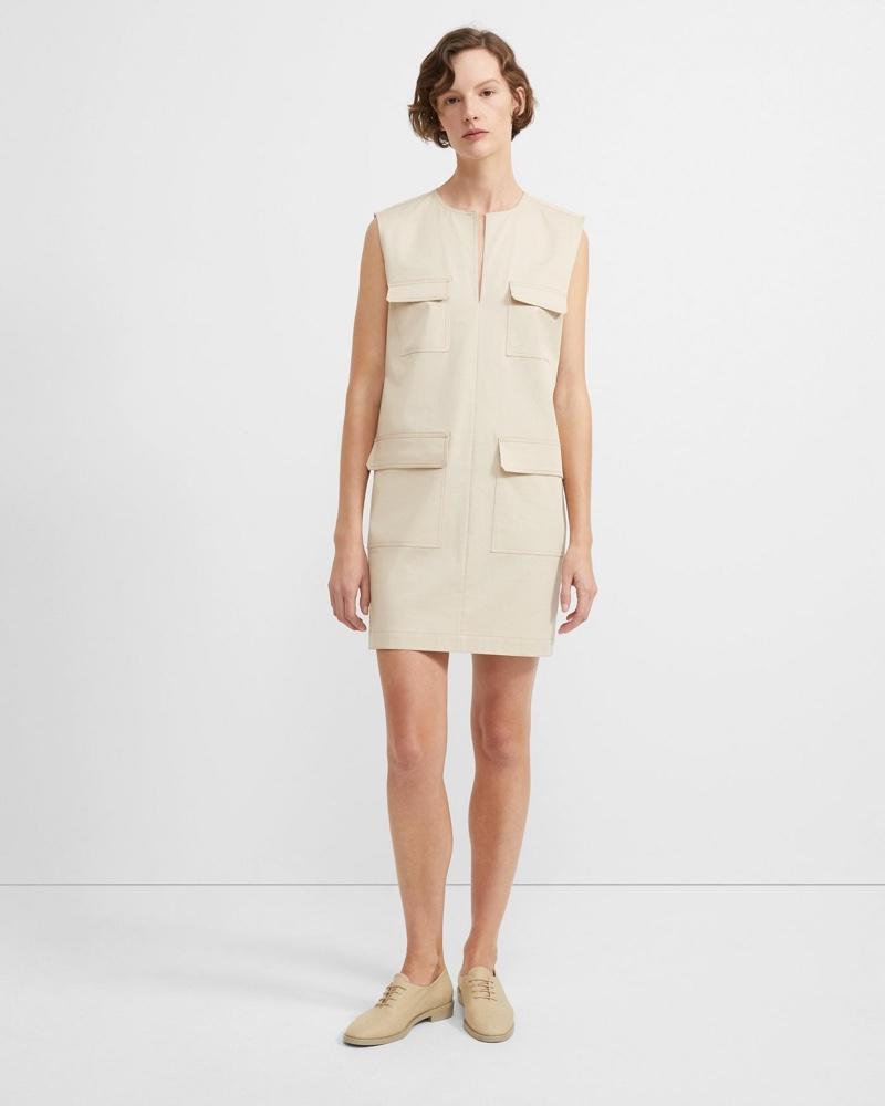 Theory Stretch Chino Utilitarian Dress $365