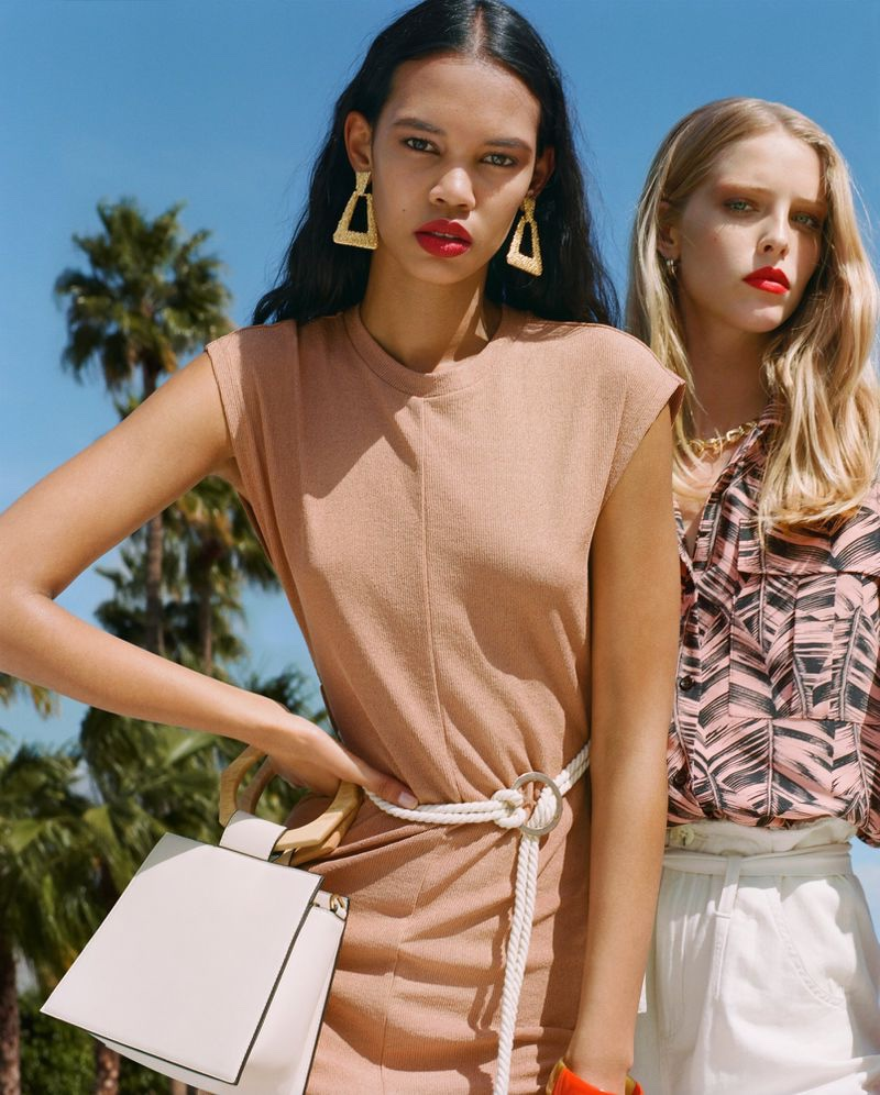 Jordan Daniels and Abby Champion front Topshop spring-summer 2019 campaign