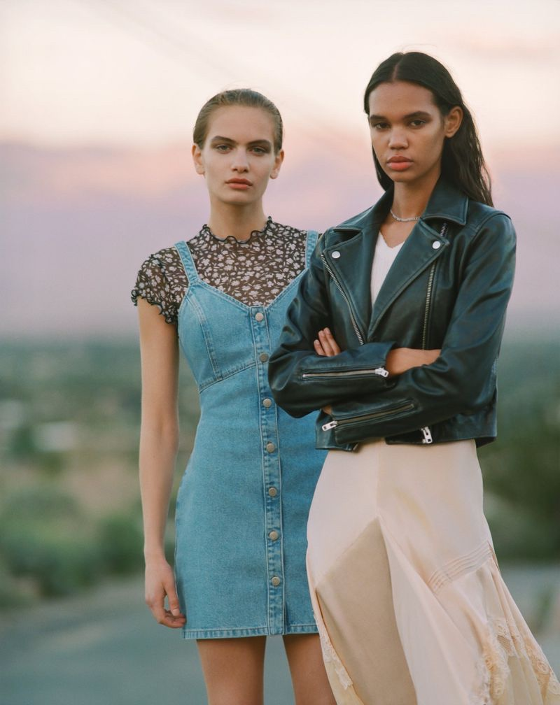 An image from the Topshop spring 2019 advertising campaign