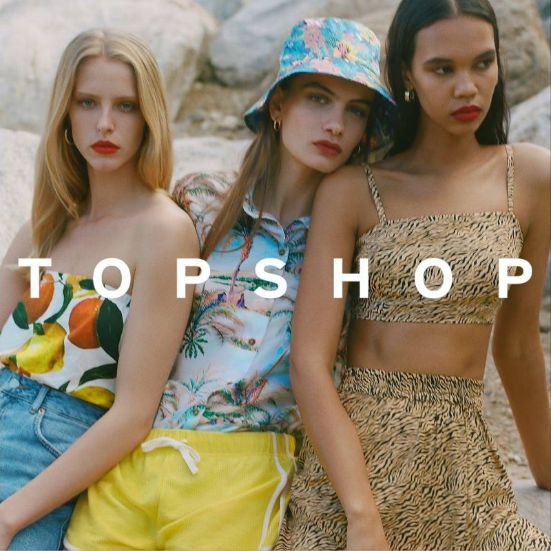 Prints take the spotlight in Topshop spring-summer 2019 campaign