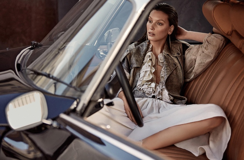 Veroniek Gielkens Poses in Chic Neutrals for Mujer Hoy