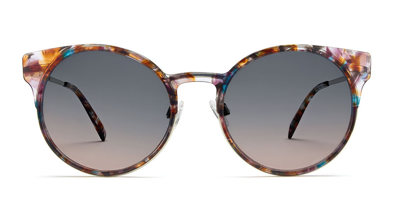 Warby Parker Daphne Sunglasses in Geode Tortoise with Riesling $145