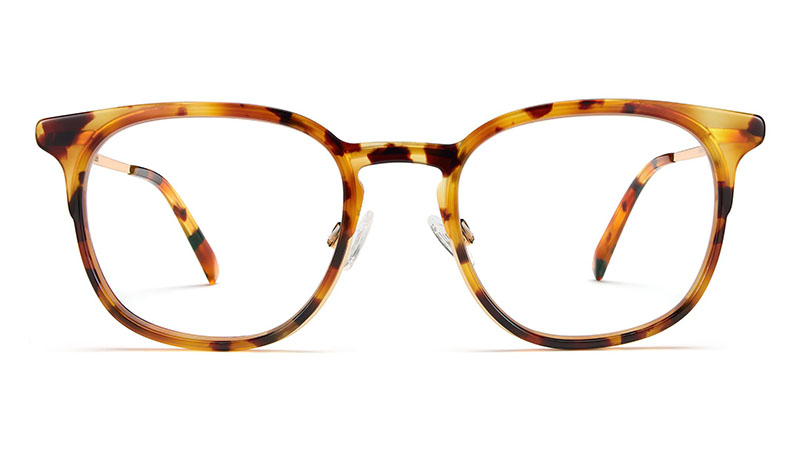 Warby Parker Jenkins Glasses in Canyon Tortoise with Gold $145