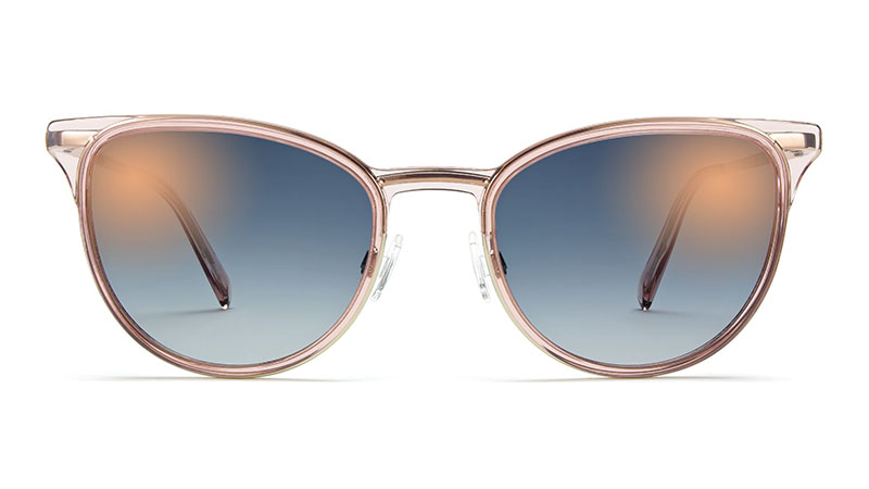 Warby Parker Lindley Sunglasses in Rose Water with Riesling $145