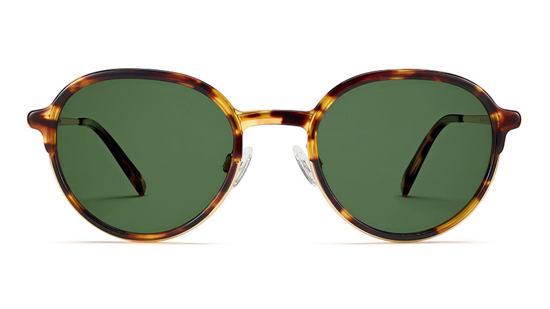 Warby Parker Whitaker Sunglasses in Root Beer with Gold $145