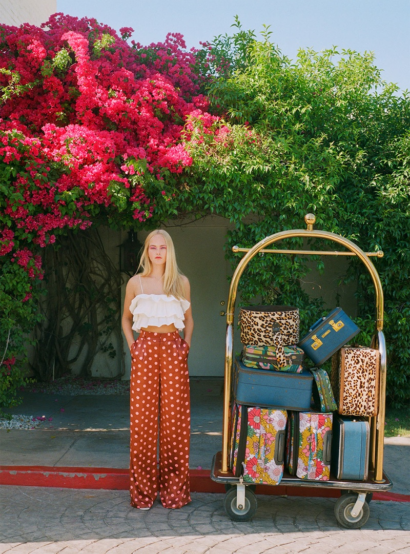 Jean Campbell stars in Zara Getting Ready spring-summer 2019 lookbook