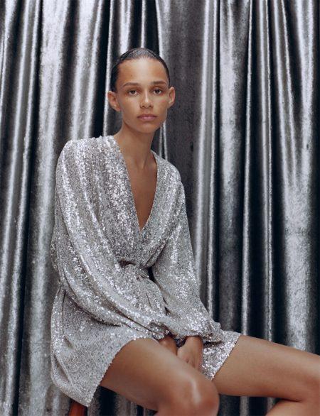 Zara Jacket Dress with Sequins