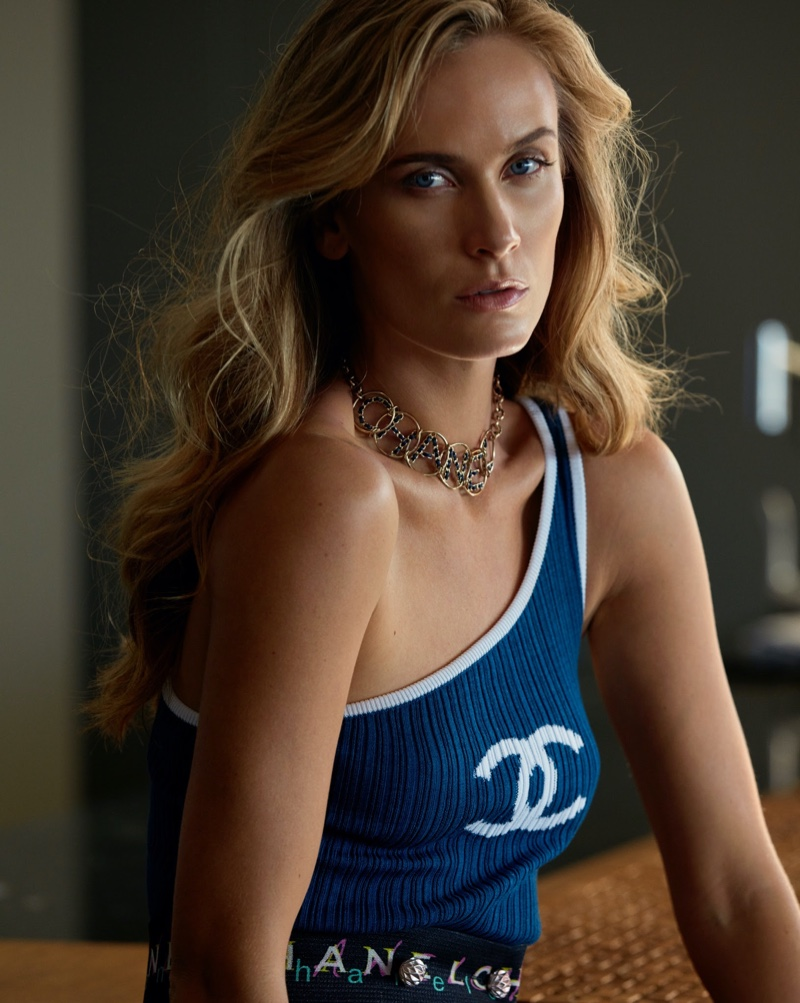 Aleksandra Orbeck Nilssen Poses In Glam Looks for Barbara Magazine