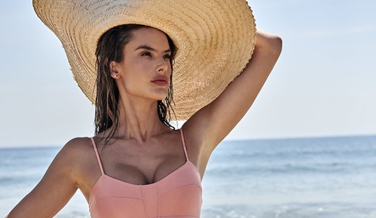 Alessandra Ambrosio poses in Gal Floripa Natural Mystic swim collection