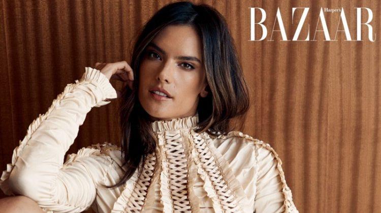 Alessandra Ambrosio Wears Statement Styles for Harper's Bazaar Taiwan