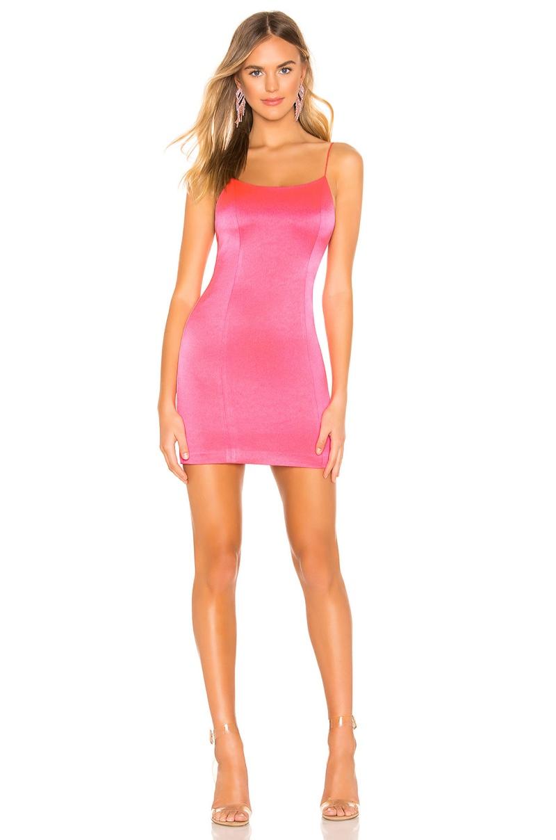 Alice + Olivia Nelle Mini Dress in Neon Pink $265