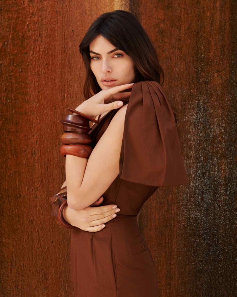 Alyssa Miller Wears Rust-Tone Styles for How to Spend It Magazine