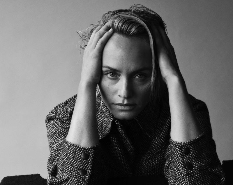 Amber Valletta Models Luxe Knitwear for Sunday Times Style