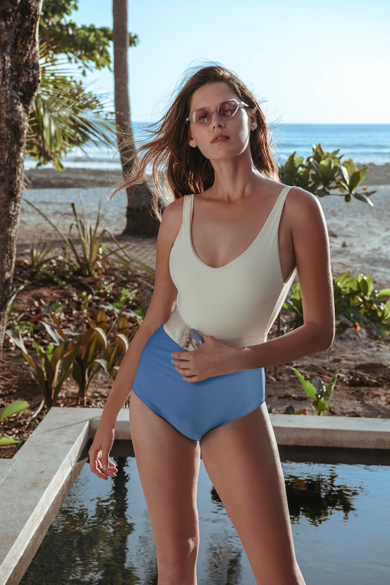 Angel Rutledge Models Beach Trends for Glass Magazine