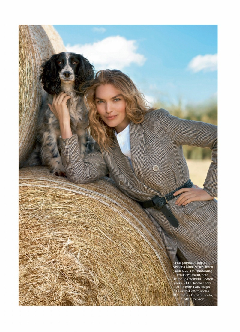 Arizona Muse Is A Natural Beauty for Town & Country UK