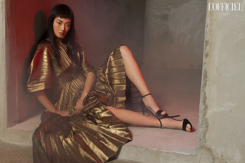 Ash Foo Turns Up the Shine Factor for L'Officiel Austria