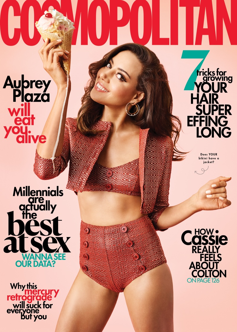 Aubrey Plaza on Cosmopolitan July 2019 Cover