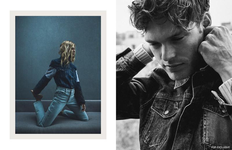 (On Barbara) Jacket Reworks (On Mihaly) T-Shirt and Jacket Levi's. Photo: Thomas Wolfe Northcut