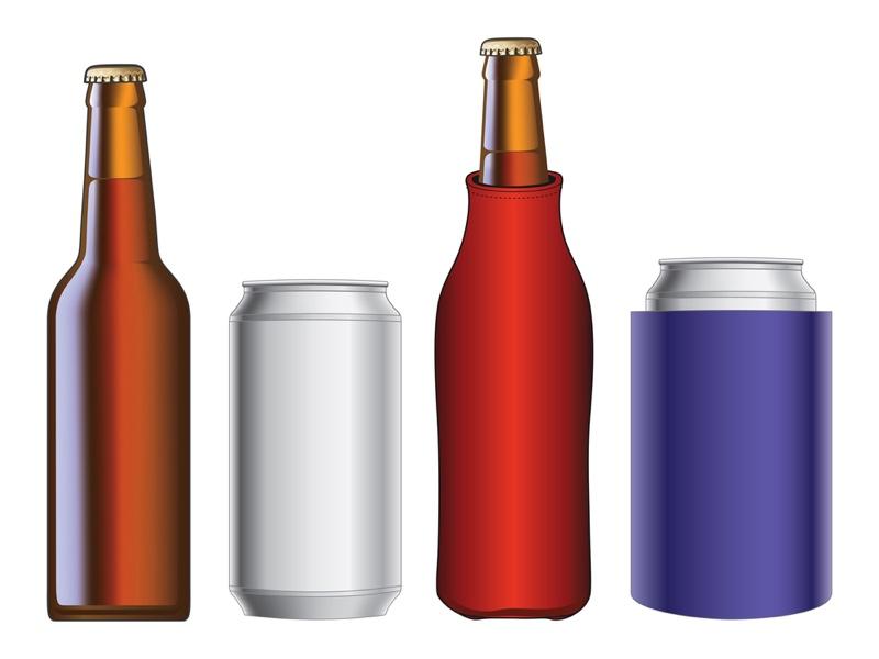 Beer Koozie Designs Bottle Can