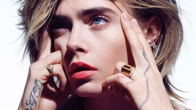 Cara Delevingne Shines in Dior Makeup for Vogue Korea