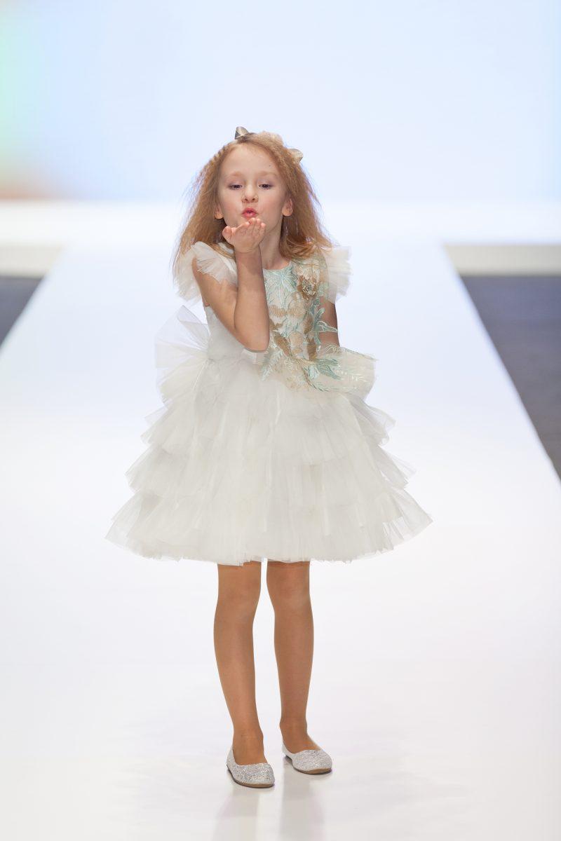 Child Ruffled Dress Runway
