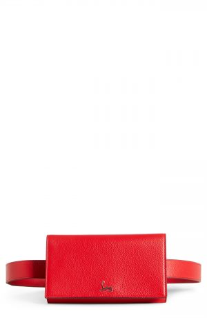 Christian Louboutin Boudoir Leather Belt Bag - Red
