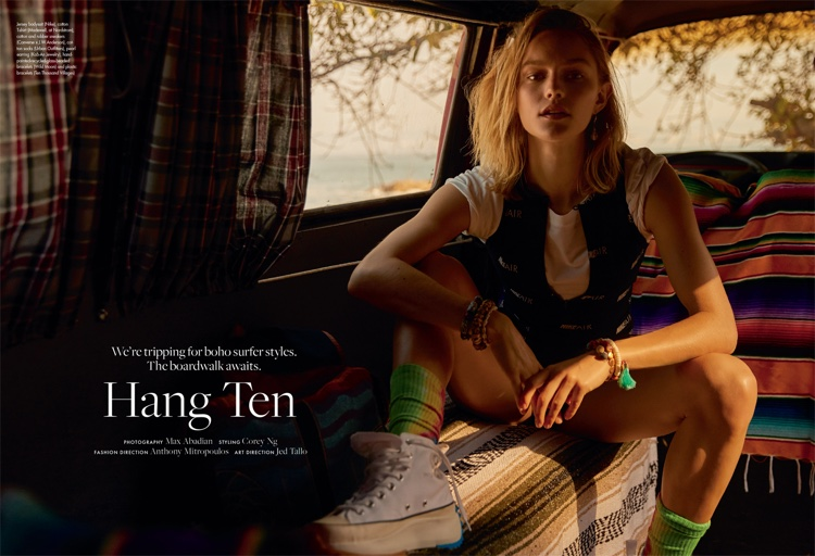 Clair Wuestenberg Channels Surfer Vibes for ELLE Canada