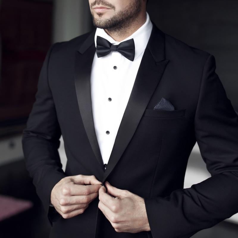 Closeup Mens Tuxedo Fashion Model