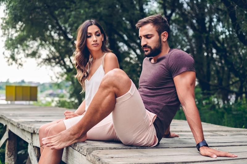 Couple Pier Unhappy Attractive