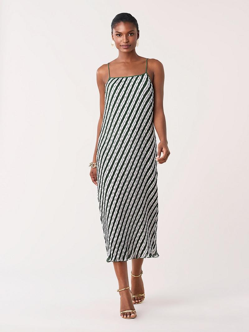 DVF Novalee Pleated Midi Dress $598