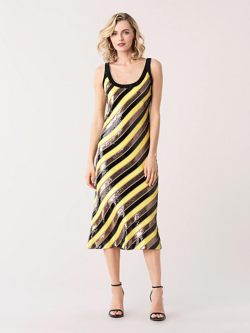 DVF Luisa Sequined Midi Dress $1,298