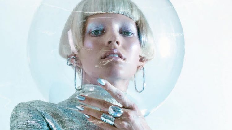 Devon Windsor Gets Futuristic in Metallics for Numero Russia