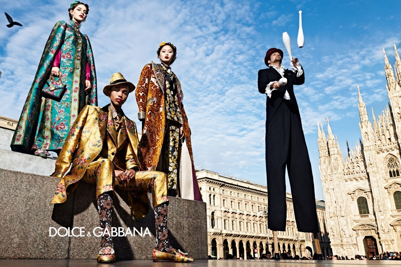 Dolce & Gabbana sets fall-winter 2019 campaign in Milan, Italy