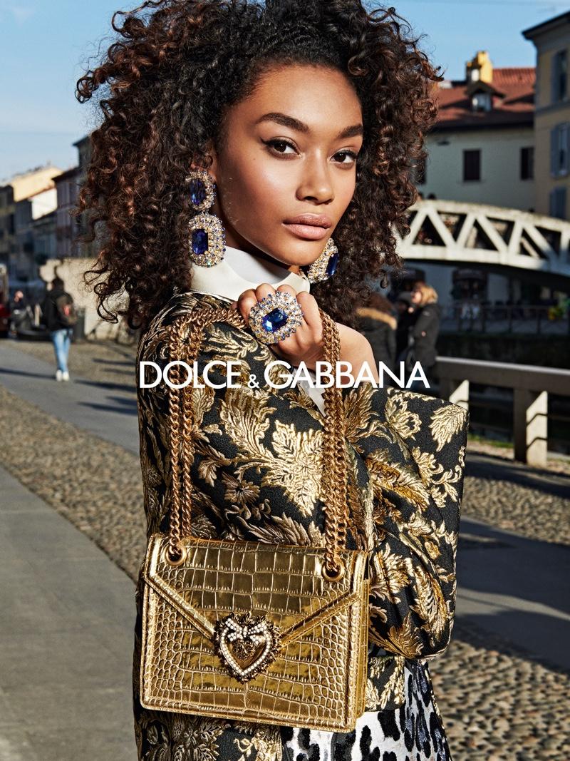 Cheyenne Maya-Carty stars in Dolce & Gabbana fall-winter 2019 campaign