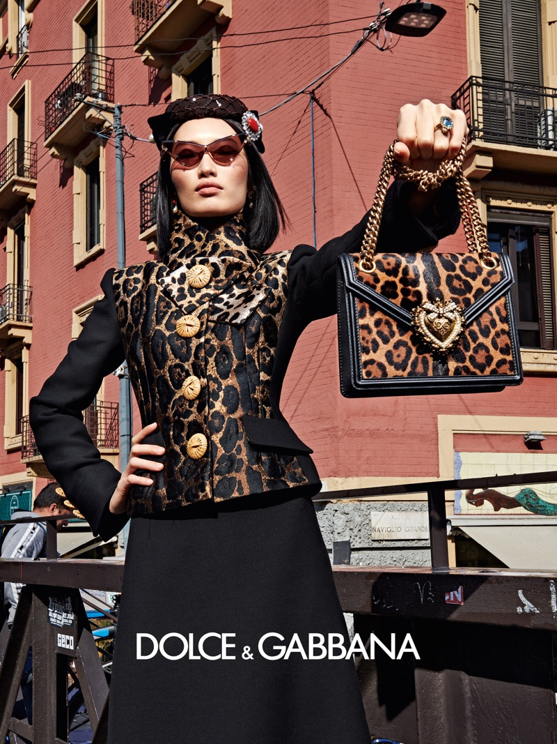 Animal print stands out in Dolce & Gabbana fall-winter 2019 campaign