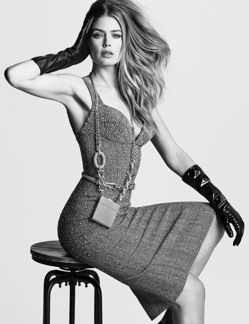 Striking a pose, Doutzen Kroes fronts Ermanno Scervino fall-winter 2019 campaign