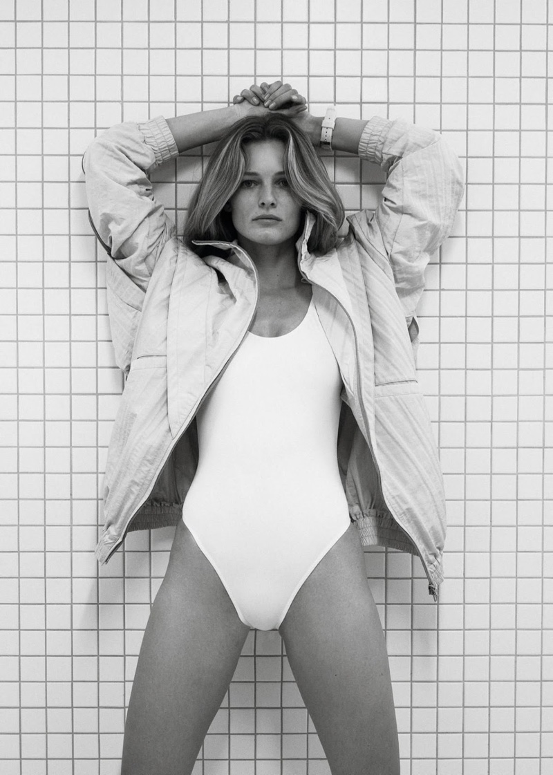 Edita Vilkeviciute Poses in Athleisure Styles for Vogue Paris