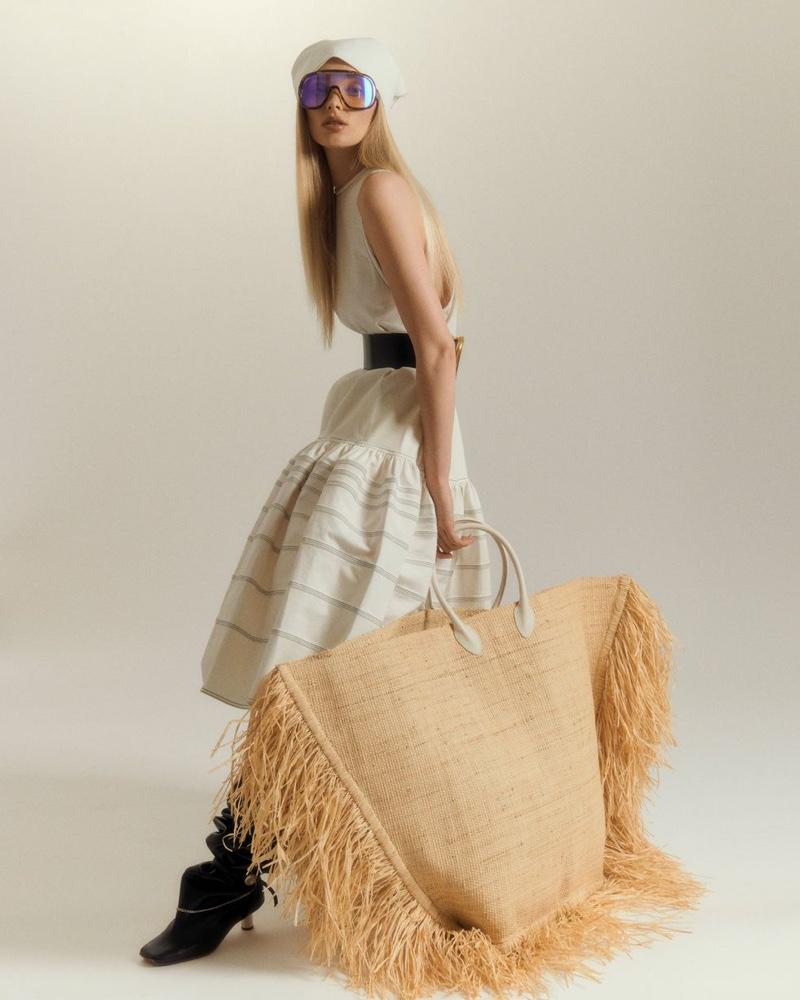 Elsa Hosk Models Statement Bags for CR Fashion Book