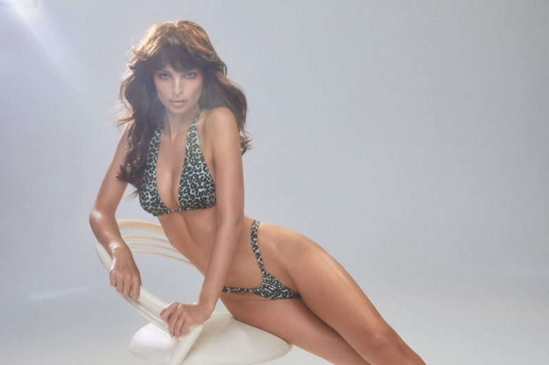 Model Emily Ratajkowski wears the summer 2019 season of her Inamorata swimsuit line
